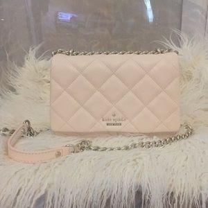 Kate Spade Light Blush Pink Quilted Bag EUC